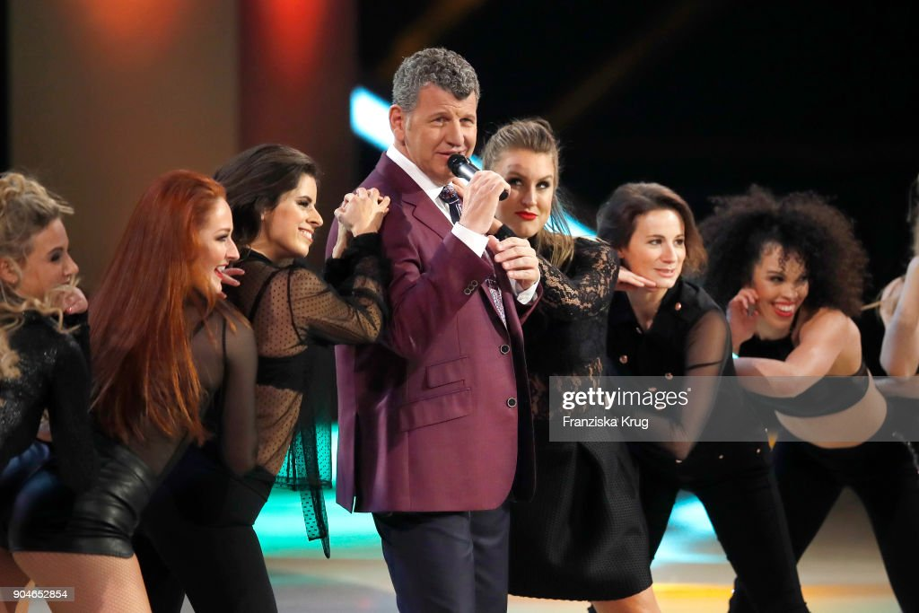 Semino Rossi performs during the 'Schlagerchampions - Das grosse Fest der Besten' TV Show at Velodrom on January 13, 2018 in Berlin, Germany.