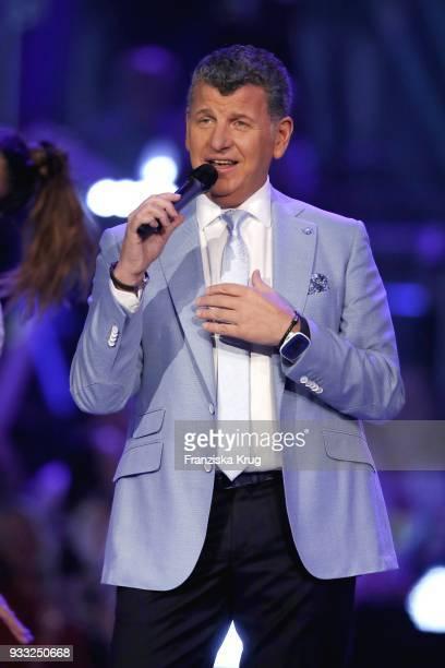 Semino Rossi performs during the TV show 'Heimlich Die grosse SchlagerUeberraschung' on March 17 2018 in Munich Germany