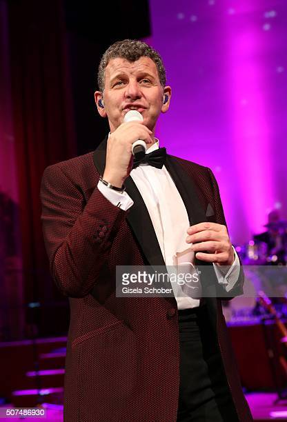Semino Rossi sings during the Semper Opera Ball 2016 at Semperoper on January 29 2016 in Dresden Germany