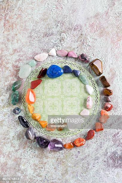 Semiprecious stones building color circle