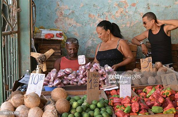 CONTENT] A semiprivate fruit and vegetable market in Havana where products grown by farmers on their own land are sold at free market prices Since...