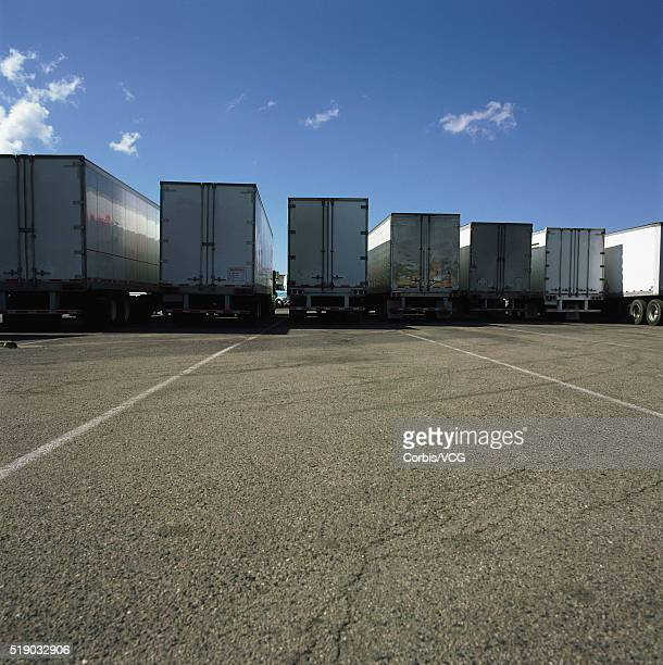 Semitrailers at a Rest Stop