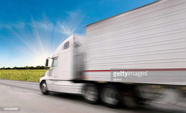 Semi-Truck on the Freeway