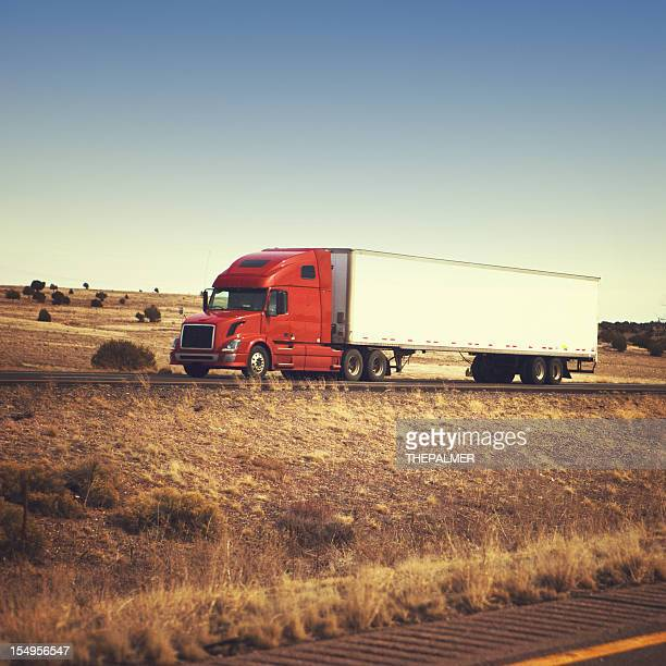 semi-truck on the highway