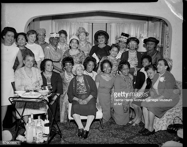 Semper Fidelis Club and Pi Chapter of Iota Phi Lambda sorority members first row from left Mrs W W Gittens Hazel Garland Dolores Epps Phyllis Kelley...