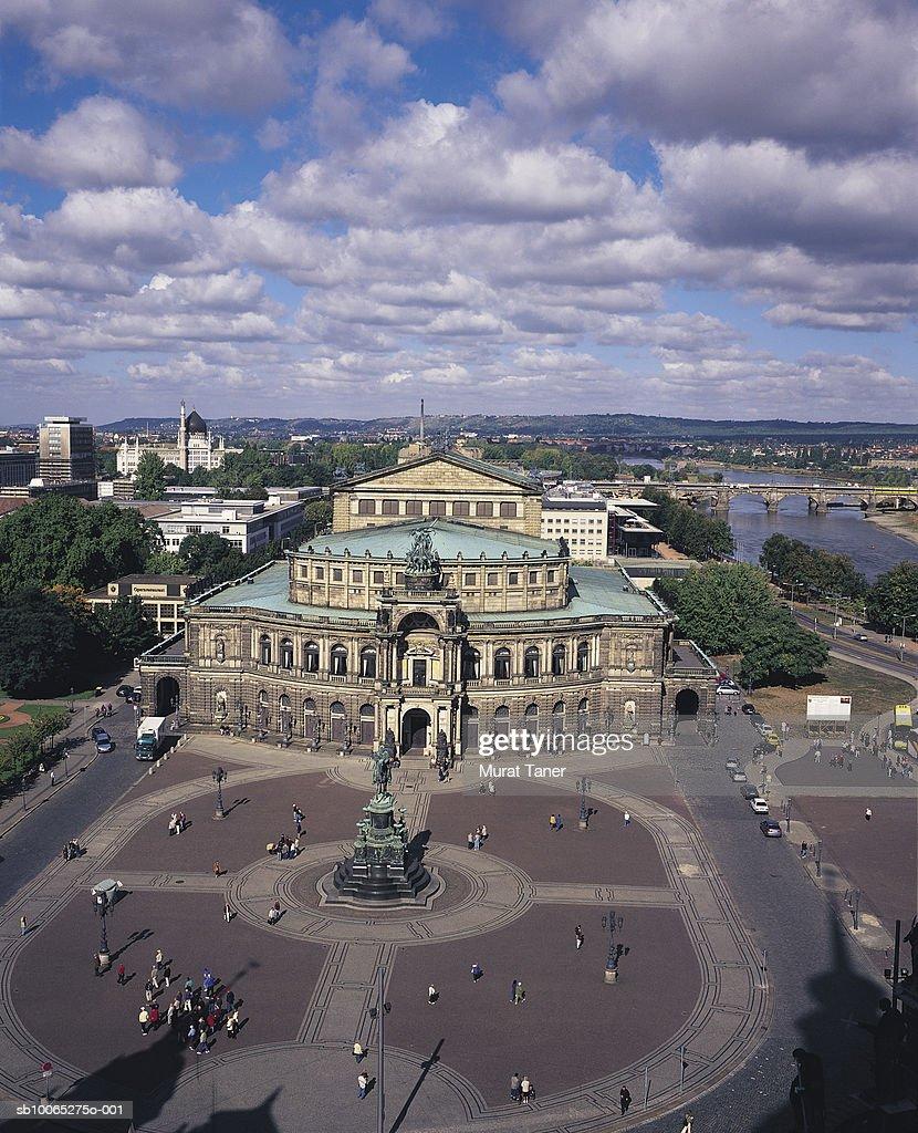Semper Opera House, elevated view : Foto stock