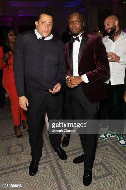 Semtex and Krept attend the GRM Gala at The V&A on August 9, 2021 in London, England.