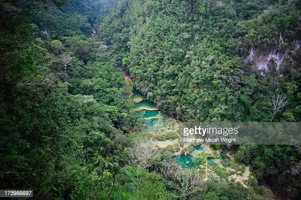 semuc champey is famous for it's pools - guatemala fotografías e imágenes de stock
