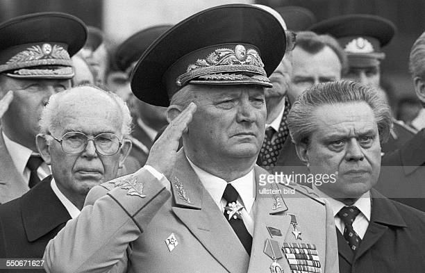 Semyon Konstantinovich Kurkotkin Marshal of the Soviet Union at the celebration of the capitulation of Nazi Germany to the Soviet Union in the Second...