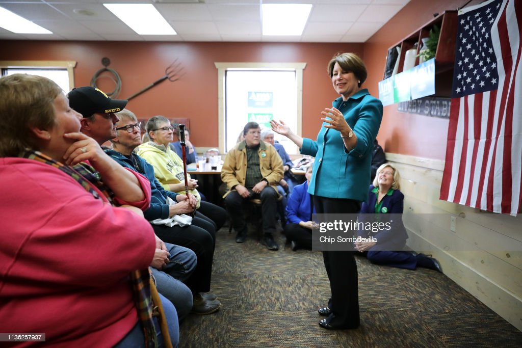 IA: Presidential Candidate Amy Klobuchar Campaigns In Iowa
