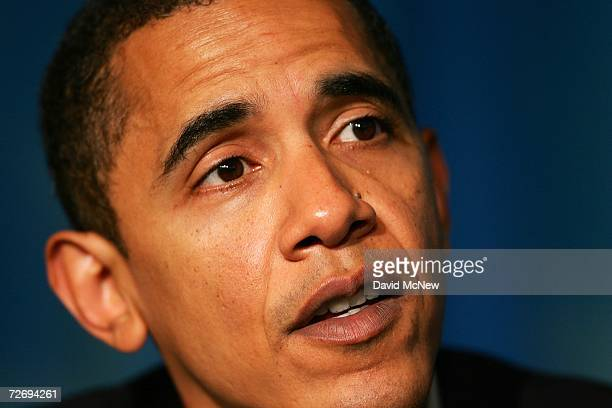 Sen Barack Obama attends the second annual Global Summit on AIDS and The Church at Saddleback Church December 1 2006 in Lake Forest California...