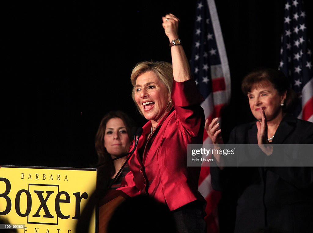 Barbara Boxer Attends Democratic Party Election Night Gathering