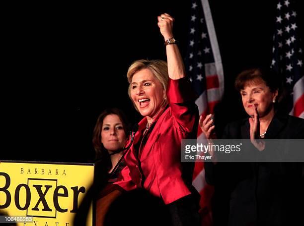 S Sen Barbara Boxer attends a post election party November 2 2010 in Hollywood California US Sen Barbara Boxer won a tight Senate race in California...