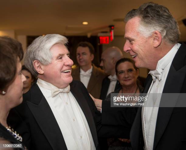Sen. Ben Cardin and Virginia Gov. Terry McAuliffe share a laugh at the Gridiron Club Dinner. The annual dinner is a massive white-tie gathering of...
