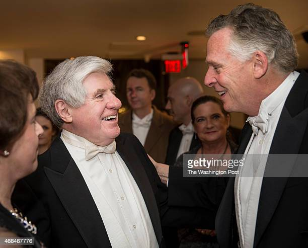 Sen Ben Cardin and Virginia Gov Terry McAuliffe share a laugh at the Gridiron Club Dinner The annual dinner is a massive whitetie gathering of media...