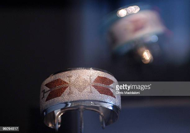 Sen Ben Nighthorse Campbell's jewelry on display in the National Museum of the American Indian