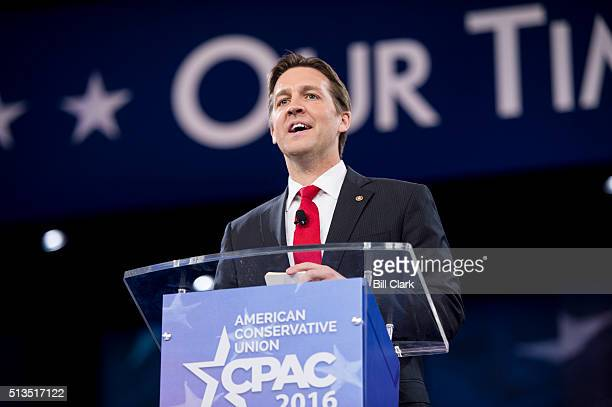 Sen. Ben Sasse, R-Neb., speaks at the American Conservative Union's CPAC conference at National Harbor in Oxon Hill, Md., on Thursday, March 3, 2016.