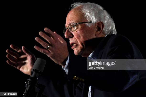 S Sen Bernie Sanders addresses the Get Out the Vote Rally in support of Democratic gubernatorial candidate Andrew Gillum at the University of Central...