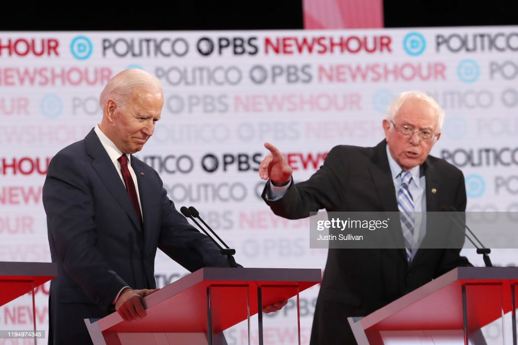 Democratic Presidential Candidates Participate In Last Debate Of 2019 : News Photo