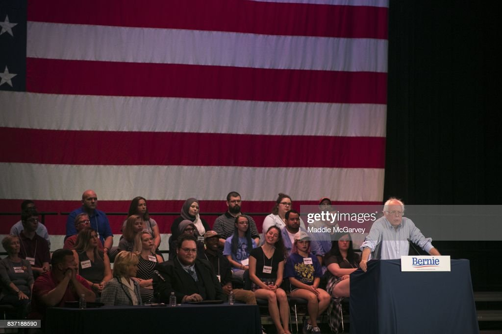 Sen. Bernie Sanders (I-VT) holds a rally on jobs, health care, and the economy at Shawnee State University on August 22, 2017 in Portsmouth, Ohio. In the 2016 election, Sanders received more votes from people under 30 than Clinton and Trump combined.