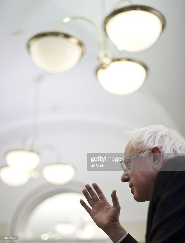 Sen. Bernie Sanders, I-Vt., speaks with reporters in the Senate Press Gallery about his opposition to Fed Chairman Ben Bernanke on Wednesday, jan. 27, 2010.