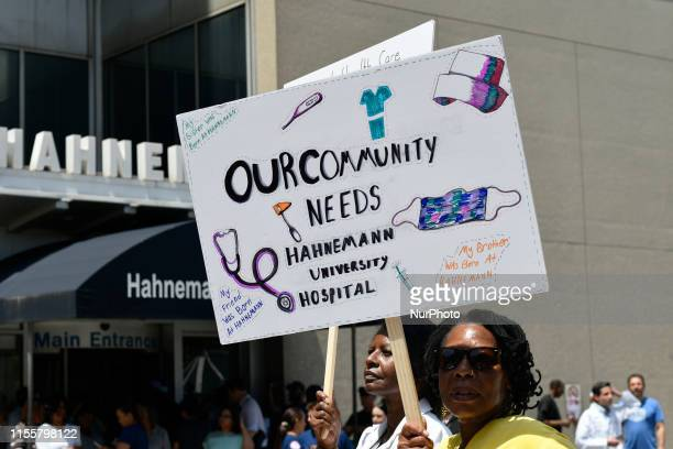 Sen Bernie Sanders joined by hospital workers union members and local politicians will protest the imminent closure of Hahnemann University Hospital...