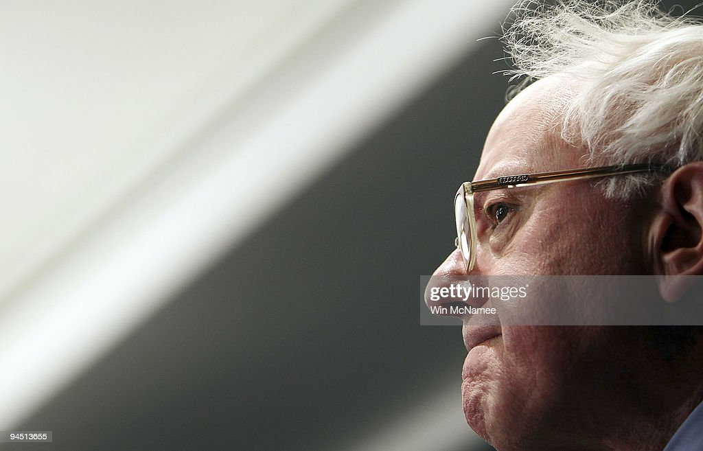 Sen. Bernie Sanders (I-VT) speaks during a press conference on the nomination of Ben Bernanke for a second term as Federal Reserve chairman December 16, 2009 in Washington, DC. Sanders, who is a member of the Senate Budget committee, has placed a hold on the nomination of Bernanke.