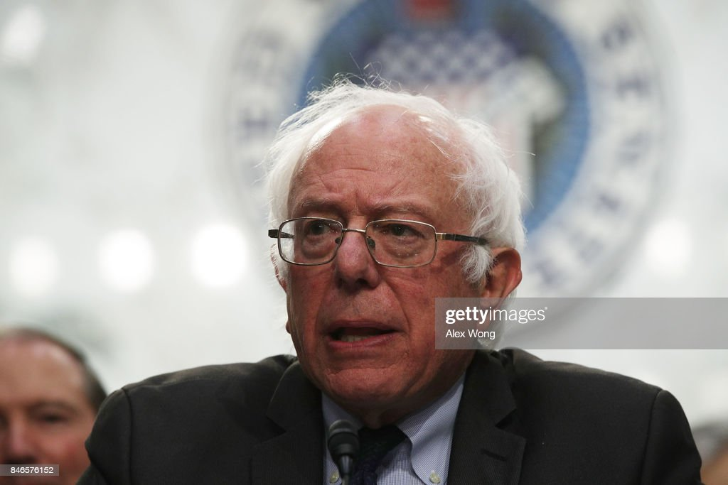 U.S. Sen. Bernie Sanders (I-VT) speaks on health care during an event September 13, 2017 on Capitol Hill in Washington, DC. Sen. Sanders held an event to introduce the Medicare for All Act of 2017.