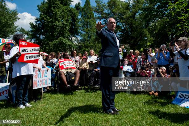 Sen Bob Casey Jr DPa speaks during the Senate Democrats' rally against Medicaid cuts in front of the US Capitol on Tuesday June 6 2017