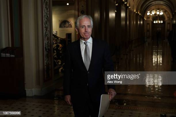 S Sen Bob Corker arrives at a meeting on investments at the US Capitol November 14 2018 in Washington DC Ivanka Trump met with a bipartisan group of...