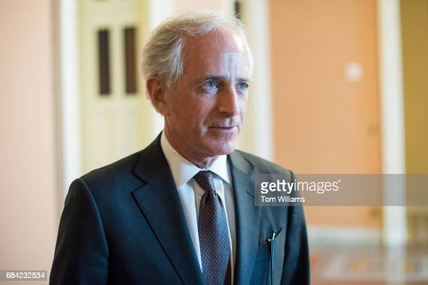 Sen Bob Corker RTenn talks with reporters after a vote in the Capitol on May 17 2017