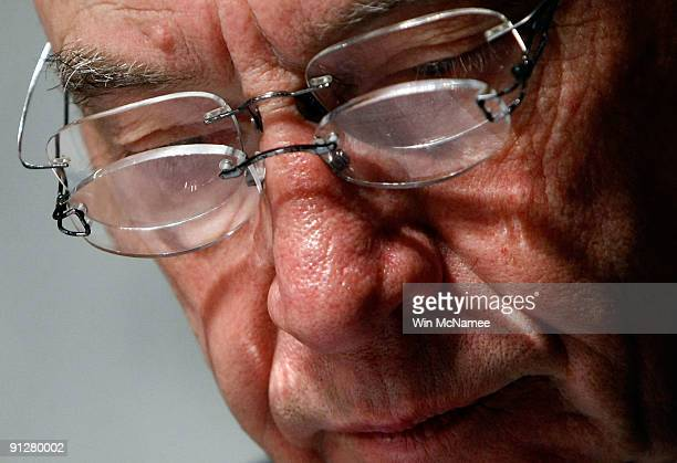 Sen. Charles Grassley reads over his notes with two pairs of eyeglasses during a markup hearing of the Senate Finance Committee September 30, 2009 in...