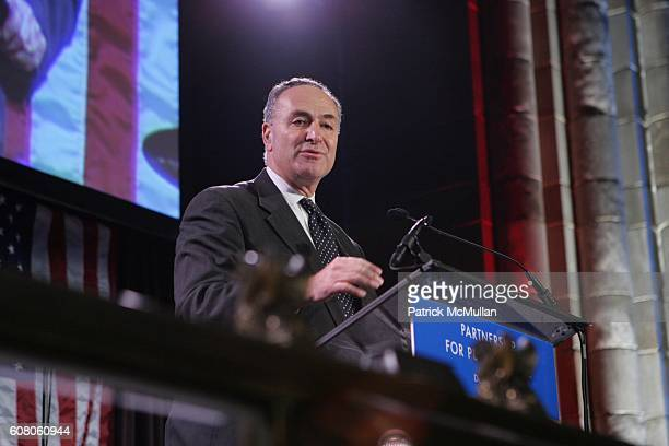 Sen Charles Schumer attends The Partnership for Public Service Gala Honors Senator Joseph Lieberman and Dennis Haysbert at Cipriani's 42nd St on...
