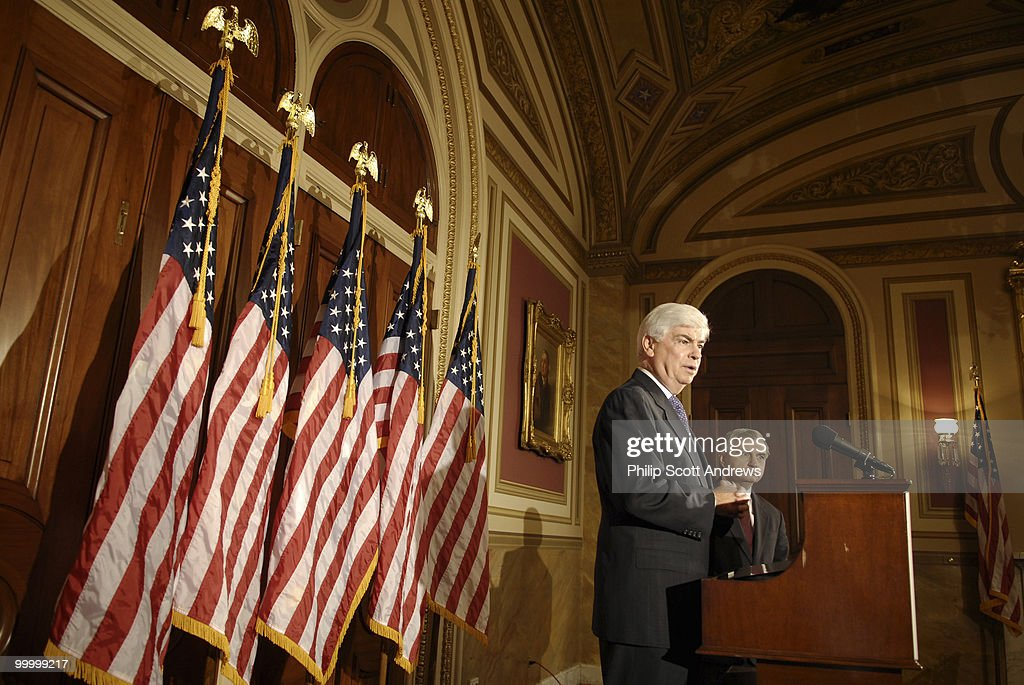 Sen. Chris Dodd, D-Conn, and Sen. Jack Reed, D-RI, hold a press conference to announce the release of of a serious letter from the National Security Advisory Group that discusses Bush Administration Policies on military budgets.
