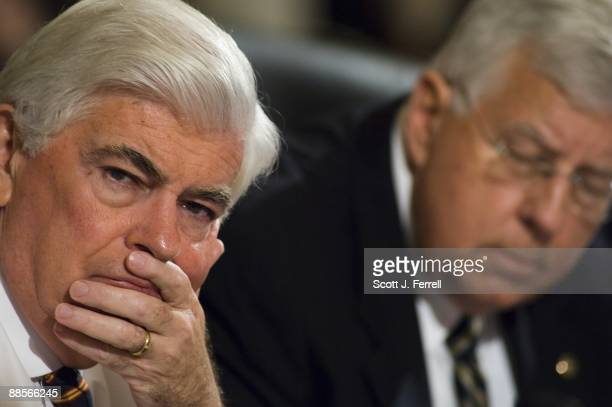 Sen. Christopher J. Dodd, D-Conn., sitting in for ailing Chairman Edward M. Kennedy, D-Mass., and ranking member Michael B. Enzi, R-Wyo., during the...