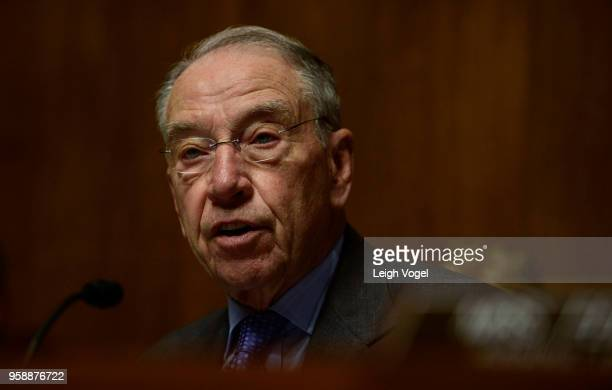 Sen. Chuck Grassley speaks during the Senate Judiciary Committee during a hearing on 'Protecting and Promoting Music Creation for the 21st Century'...