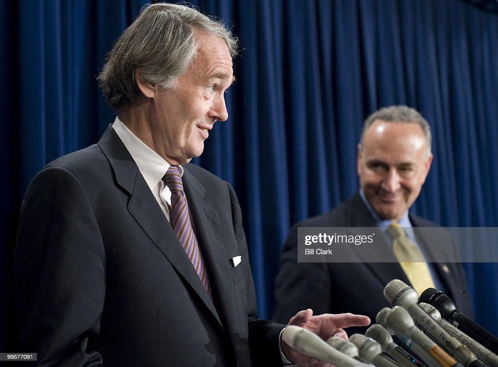 Sen. Chuck Schumer, D-N.Y., holds a news conference on Thursday, June 12, 2008, with Rep. Ed Markey, D-Mass., to voice opposition to the Bush administration's proposed transfer of nuclear technology to Saudi Arabia.