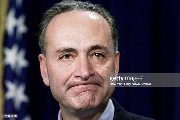 Sen Chuck Schumer holds news conference to announce that he will chair hearings on the use of military tribunals to try terrorists