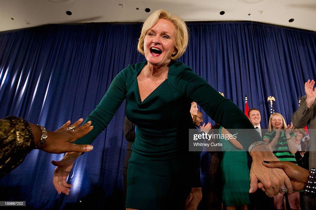 Democratic Senate Candidate Sen. Claire McCaskill Holds Election Night Gathering : News Photo