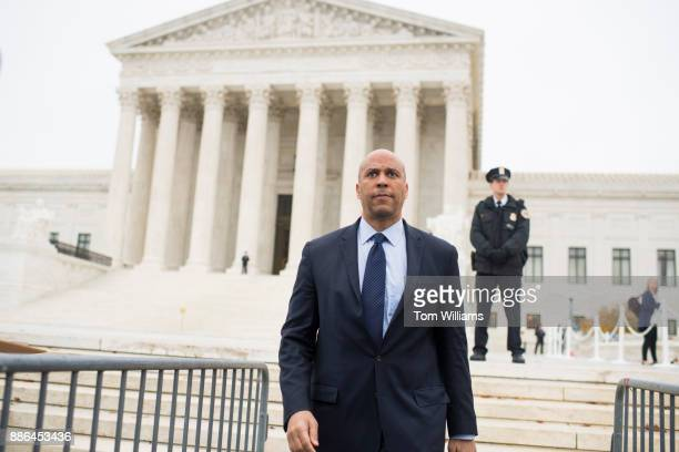 Sen Cory Booker DNJ spoke outside the Supreme Court in support of a samesex couple whose request for a wedding cake was denied by a Colorado baker...