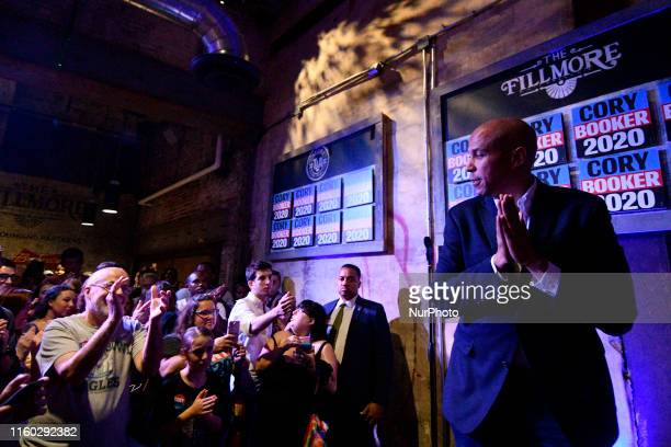 Sen Cory Booker Presidential hopeful for the US 2020 Elections holds a Philadelphia Rise rally at the Fillmore in Philadelphia PA on August 7 2019