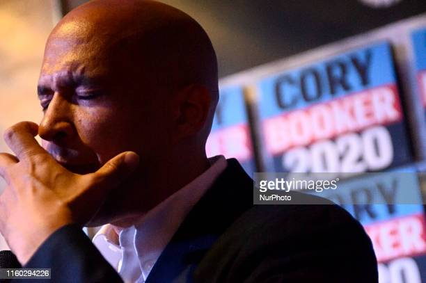 Sen Cory Booker Presidential hopeful for the US 2020 Elections talks about the gun violence crisis in America during a holds a Philadelphia Rise...
