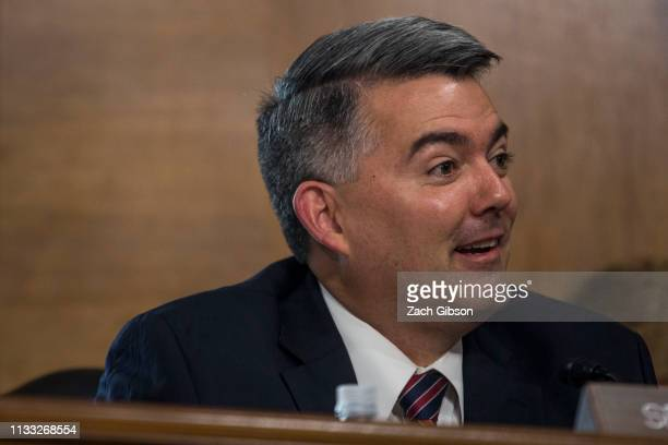 Sen Cory Gardner speaks during a Senate Energy and Natural Resources Committee confirmation hearing on March 28 2019 in Washington DC