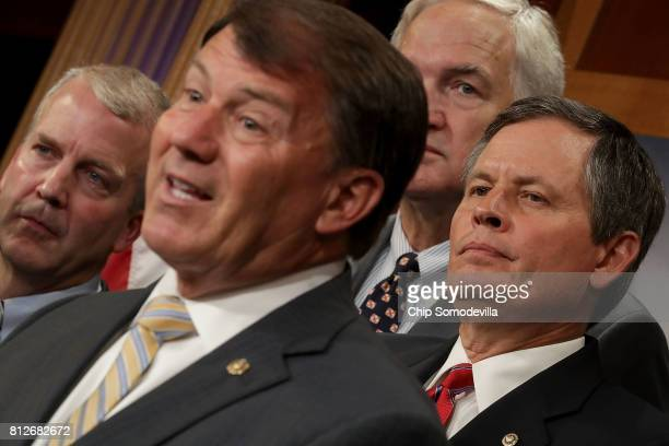 Sen Dan Sullivan Sen Mike Rounds Sen Luther Strange Sen Steve Daines and other Republican senators hold a news conference to call on Senate...