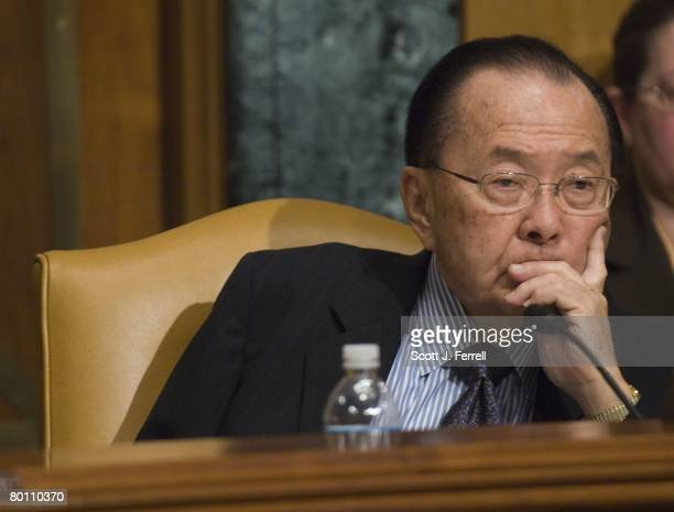 Sen Daniel K Inouye DHawaii who chaired the meeting in the absence of subcommittee Chairman Robert C Byrd of West Virginia as Homeland Security...