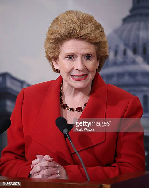 Sen Debbie Stabenow speaks about the Senate's recent failed vote for funding to fight the Zika virus on Capitol Hill June 29 2016 in Washington DC