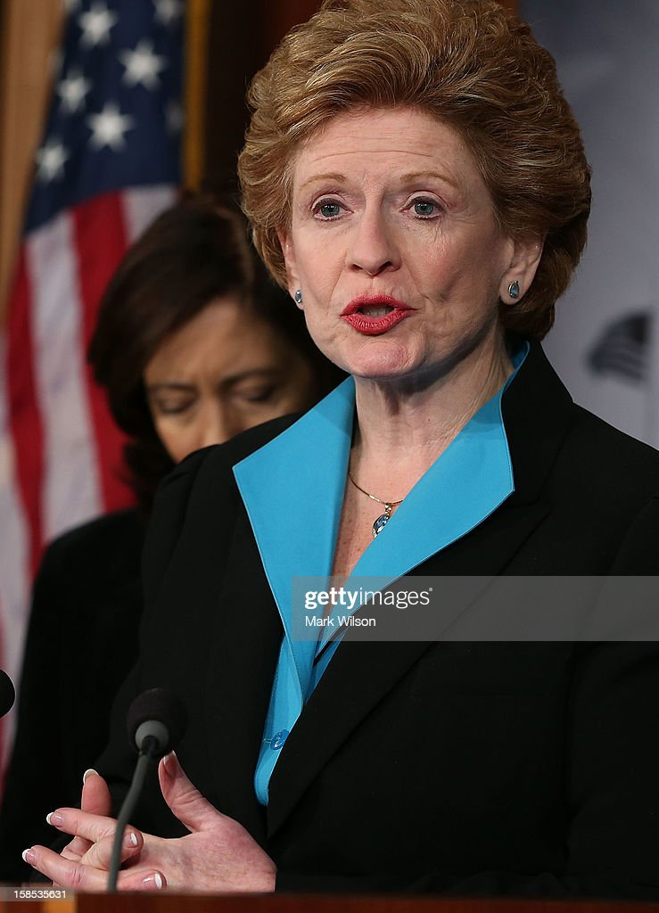 U.S. Sen. Debbie Stabenow (D-MI), speaks during a news conference on violence against women on December 18, 2012 in Washington, DC. The Democratic female Senators discussed a domestic violence protection bill and have called on the House to pass it before Congress recesses at end of the year.
