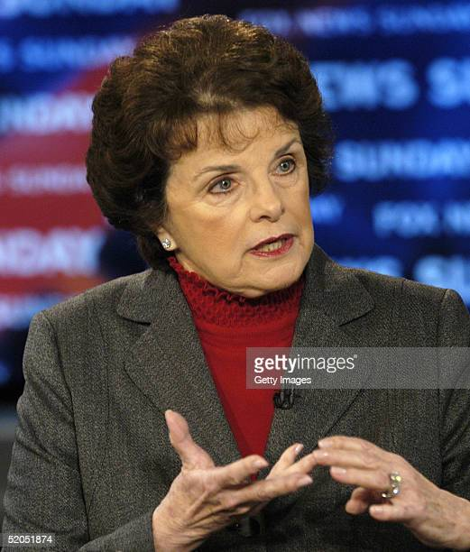 Sen Dianne Feinstein appears on FOX News Sunday with Chris Wallace on January 23 live from the FOX News Sunday studios in Washington DC