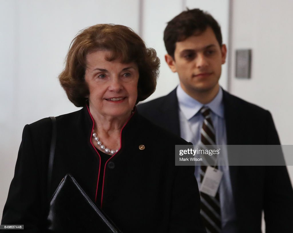 Sen. Dianne Feinstein (D-CA) arrives at a Senate Intelligence Committee closed door meeting, on September 19, 2017 in Washington, DC. The committee is investigating alleged Russian interference in the 2016 U.S. presidential election.