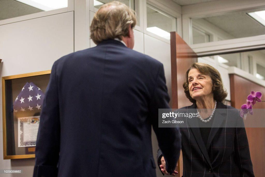 sen dianne feinstein greets white house counsel don mcgahn before news photo getty images 2